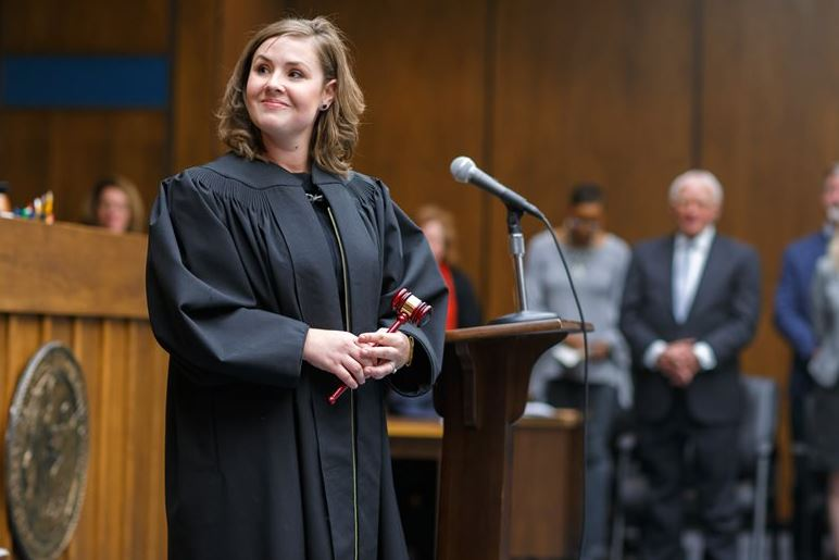 2017 - Vickery Sworn In as District Court Judge