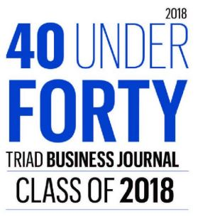 "2018 - Triad Business Journal names 2018 ""40 Under 40"""
